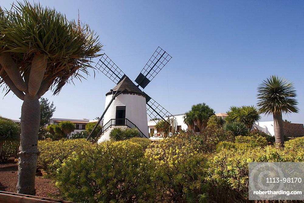 Windmill centre with museum, Tiscamanita, Tuineje, Tefia, Antigua, Fuerteventura, Canary Islands, Spain, Europe