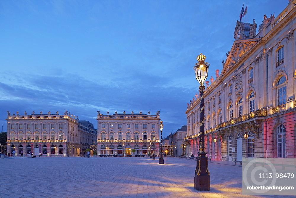 La Place Stanislas in Nancy, Dept, Unesco World Cultural Heritage, Meurthe-et-Moselle, Region Alsace-Lorraine, France, Europe
