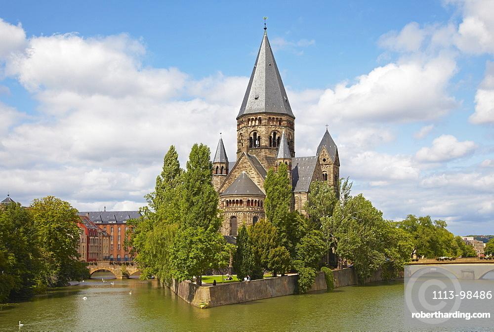 Temple Neuf, Mosel, Metz, Moselle, Region Alsace Lorraine, France, Europe