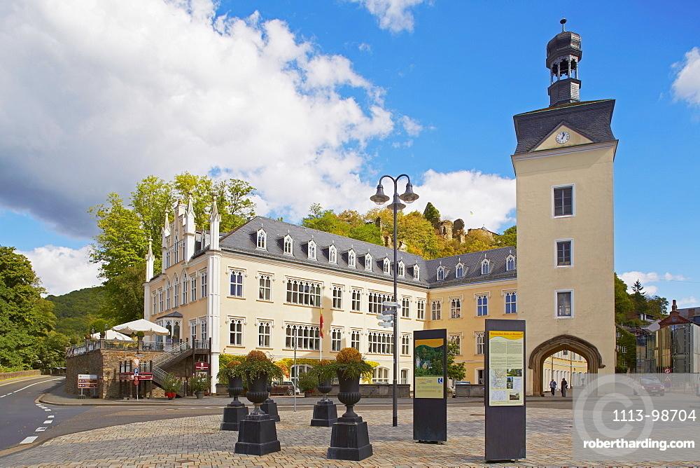 View of Sayn castle, Sayn, Bendorf-Sayn, Mittelrhein, Rhineland-Palatinate, Germany, Europe