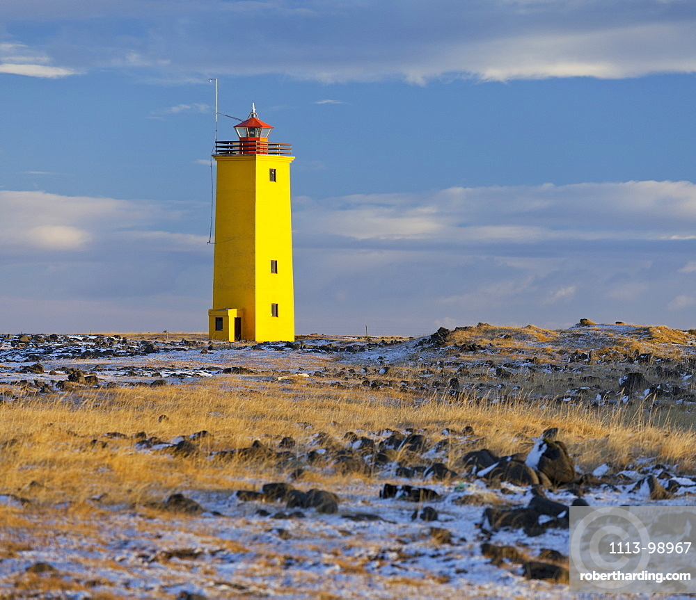 Nes Lighthouse, Selvogur, South Iceland, Iceland