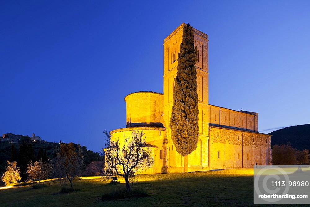 Sant Antimo Abbey, Castelnuovo dellabate, Tuscany, Italy