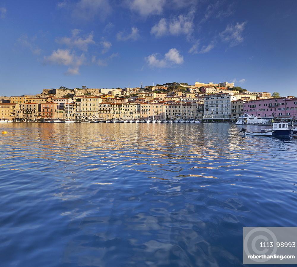 Boats in the harbor of Portoferraio, Elba Island, Tuscany, Italy