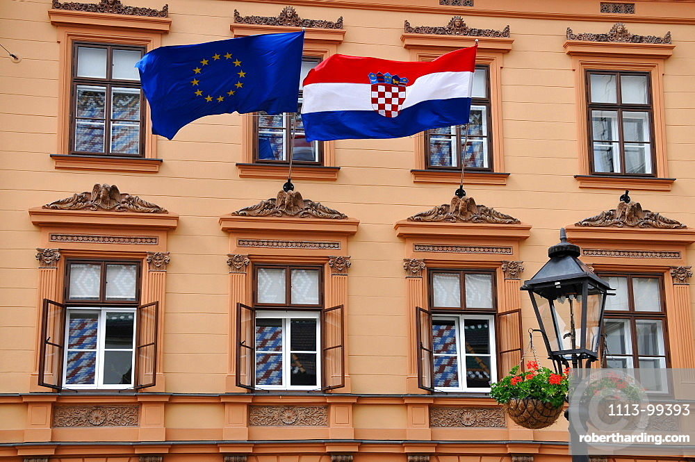 Government building on the market square, government quarter, upper town, Zagreb, Croatia
