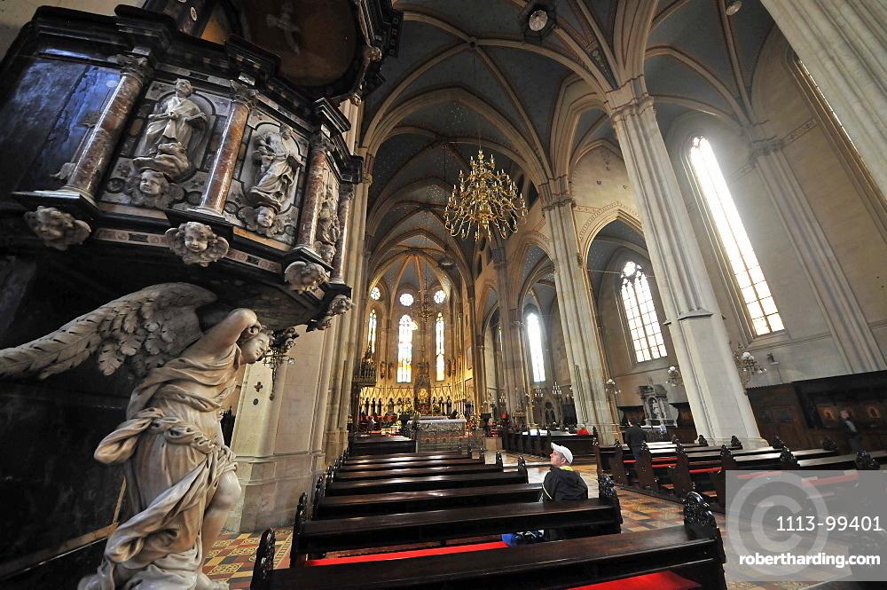 Inside Zagreb cathedral, Kaptol, Under Town, Zagreb, Croatia