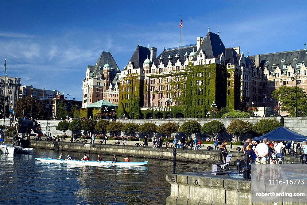 Empress Hotel and the Tall Ships Festival, Inner Harbour, Victoria, British Columbia