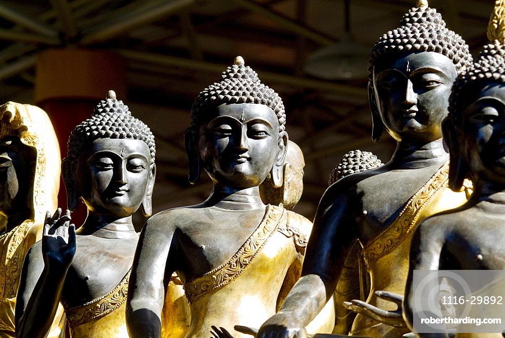 China, Beijing,Thai Buddha sculptures.
