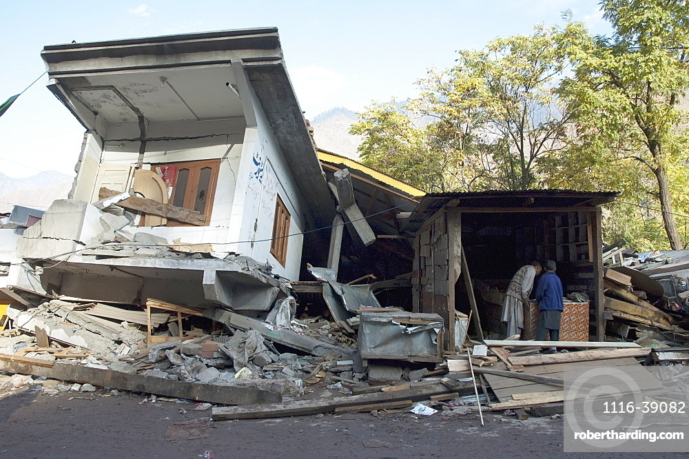 Home Destroyed By The 8 October 2005 Earthquake, Chinari, Azad Kashmir, Pakistan