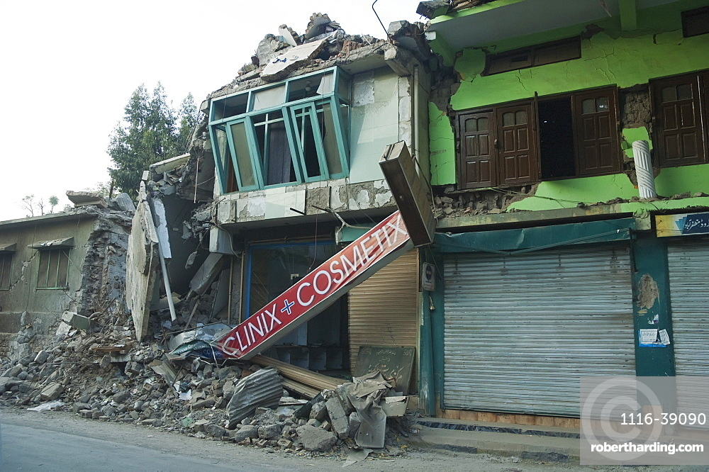 Rubble Of A Pharmacy Destroyed By The 8 October 2005 Earthquake, Muzaffarabad, Azad Kashmir, Pakistan