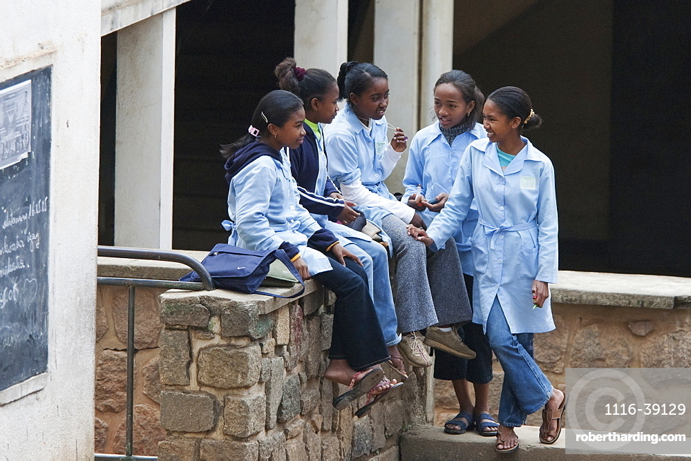 Schoolchildren In Antananarivo, Madagascar