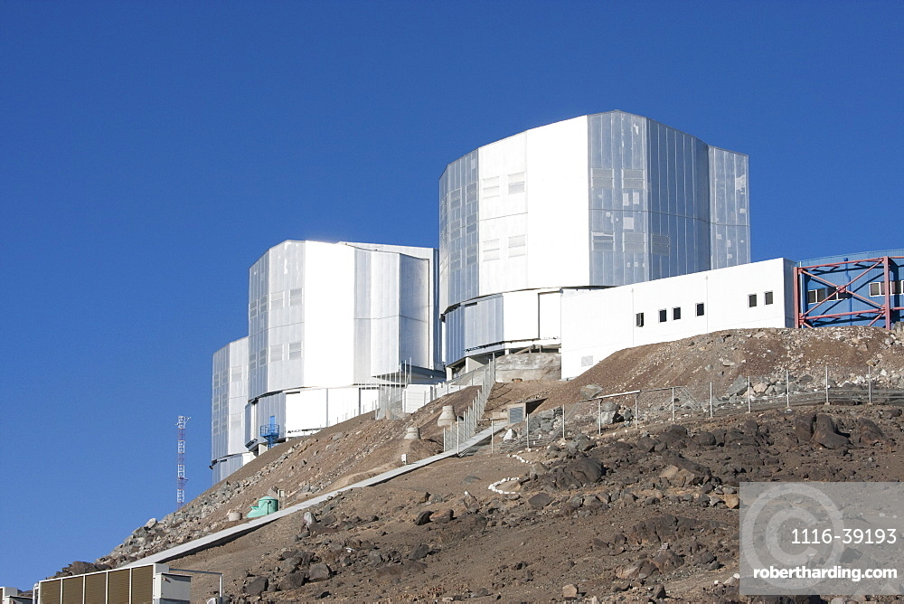 Control Center & Antu (Sun) Unit Telescope 1, Belonging To The Very Large Telescope (Vlt) Operated By The European Southern Observatory At Paranal, Antofagasta Region, Chile