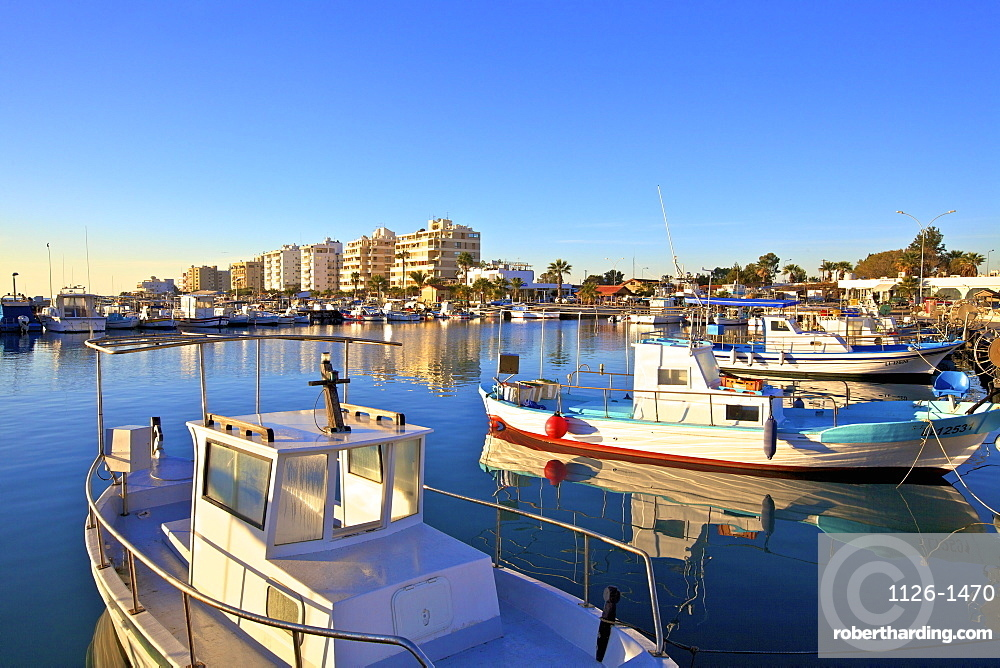 Larnaka Harbour, Larnaka, Cyprus, Eastern Mediterranean Sea, Europe