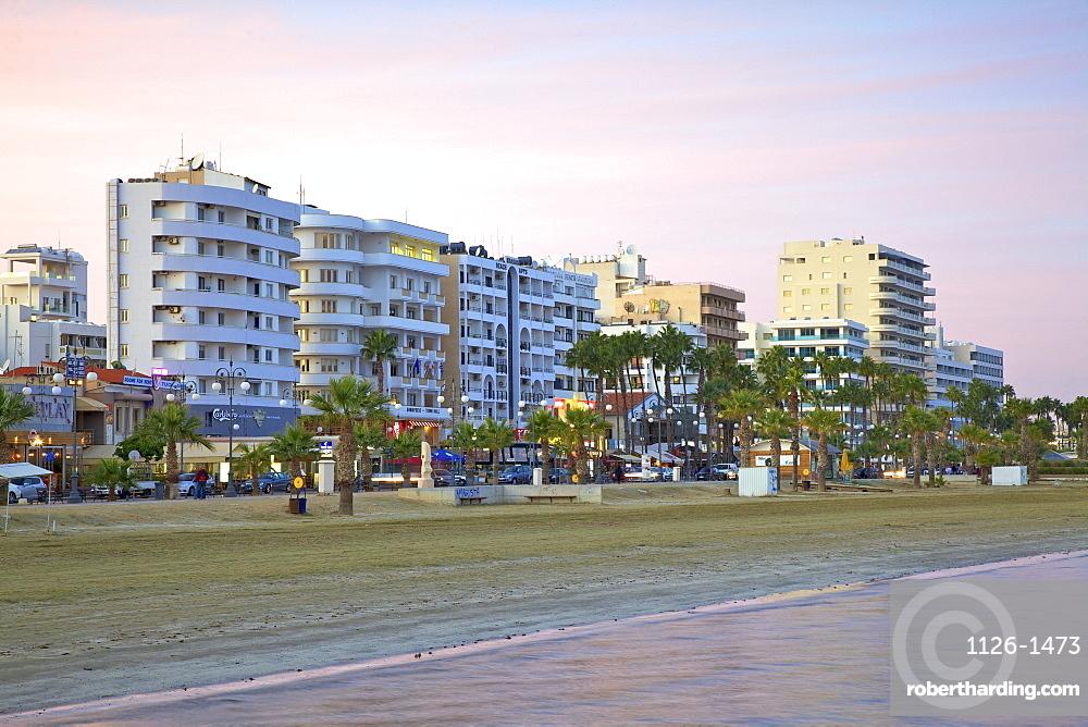 Beach at Larnaka, Larnaka, Cyprus, Eastern Mediterranean Sea, Europe