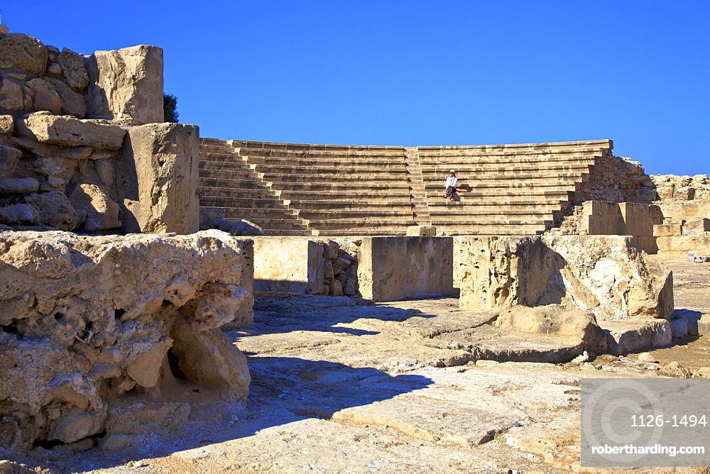 Roman Odeon, Kato Paphos Archaeological Park, UNESCO World Heritage Site, Paphos, Cyprus, Eastern Mediterranean, Europe