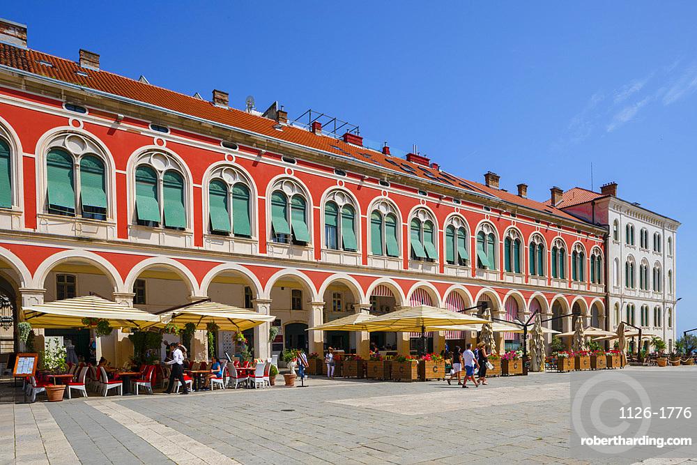 Republic Square, Split, Dalmatian Coast, Croatia, Europe