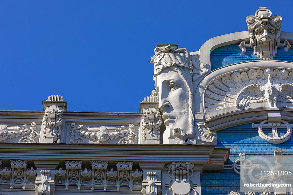 Art Nouveau architecture, Riga, Latvia, Europe