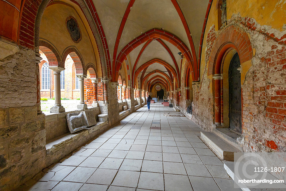 Cloisters in the Dome Cathedral, Riga, Latvia, Europe