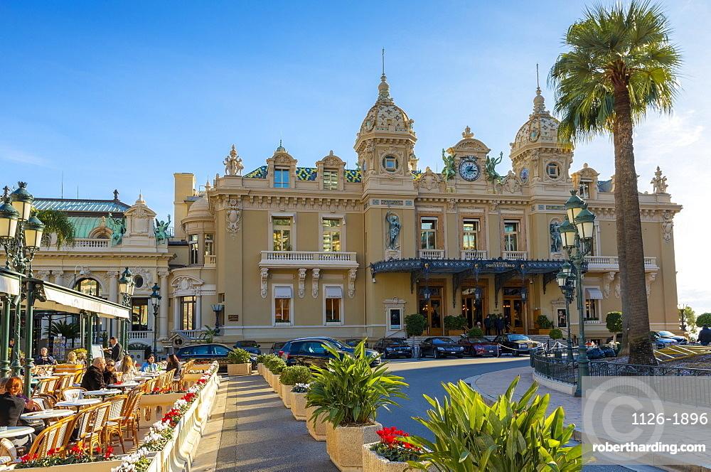 Monte Carlo Casino and Cafe de Paris, Monte Carlo, Monaco, Mediterranean, Europe