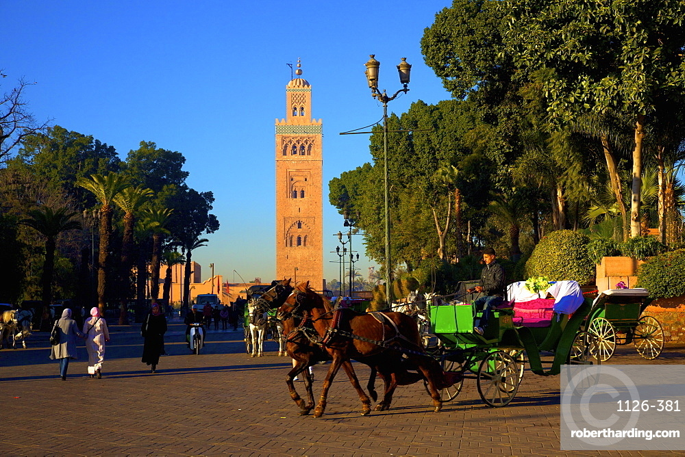 Koutoubia Mosque, UNESCO World Heritage Site, Marrakech, Morocco, North Africa, Africa
