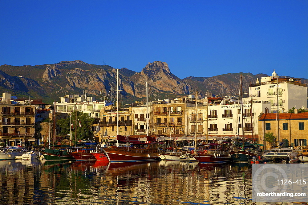 Kyrenia Harbour, Kyrenia, North Cyprus, Cyprus, Mediterranean, Europe