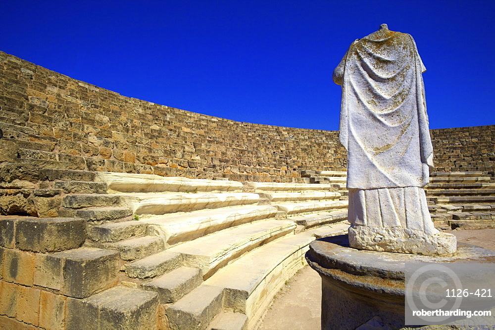 Roman Theatre, Salamis, North Cyprus, Cyprus, Europe