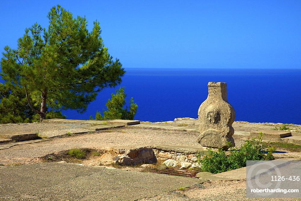 Ruins of Ancient Palace, Vouni, North Cyprus, Cyprus, Mediterranean, Europe