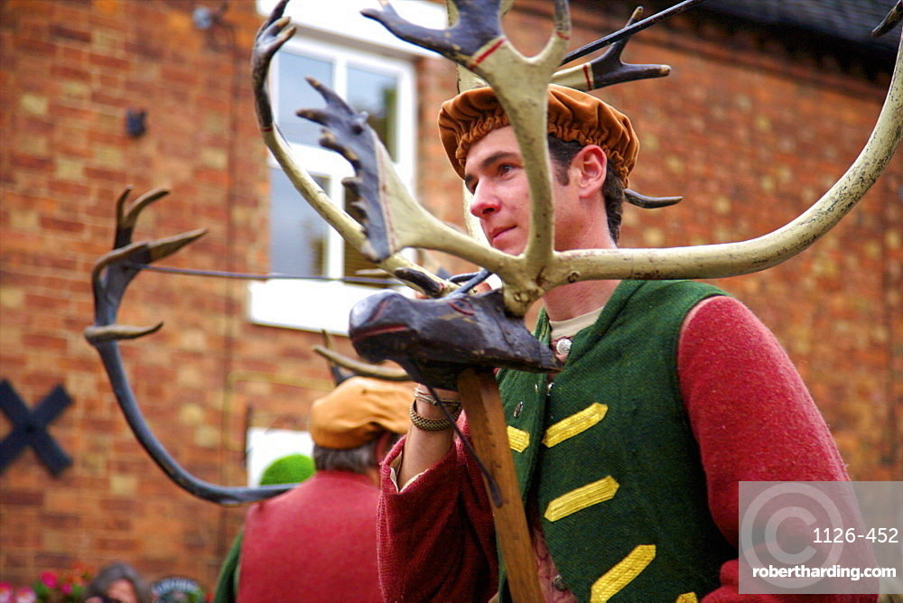Abbots Bromley Horn Dance, Abbots Bromley, Staffordshire, England, United Kingdom, Europe