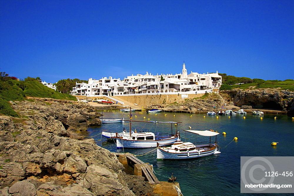 Harbour, Binibequer, Menorca, Balearic Islands, Spain, Mediterranean, Europe
