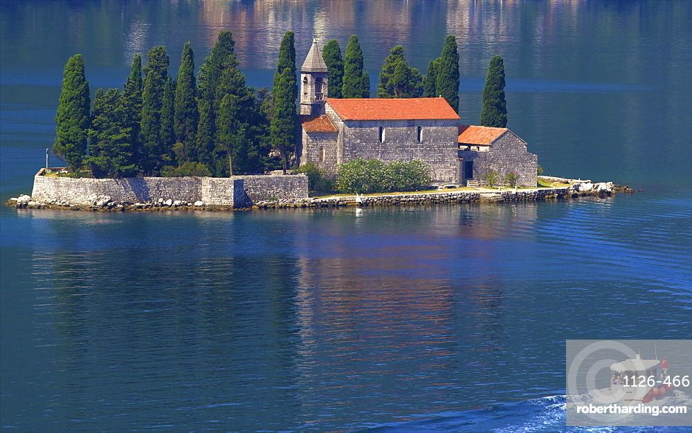 St. George Island, Kotor Bay, UNESCO World Heritage Site, Montenegro, Europe