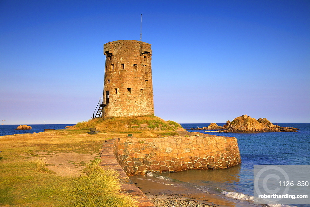 Jersey Round Tower, Le Hocq, St. Clement, Jersey, Channel Islands,Europe