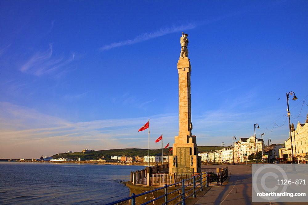 Douglas War Memorial and Seafront, Douglas, Isle of Man, Europe
