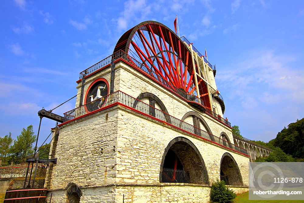 Laxey Wheel, Laxey, Isle of Man, Europe