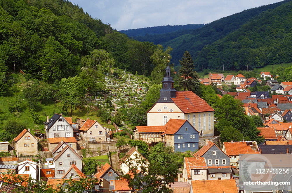 View on Steinbach, Thuringia, Germany