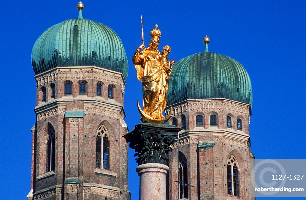 Church of Our Lady and Mary Column, Munich, Bavaria, Germany / Munchen, Mariensäule