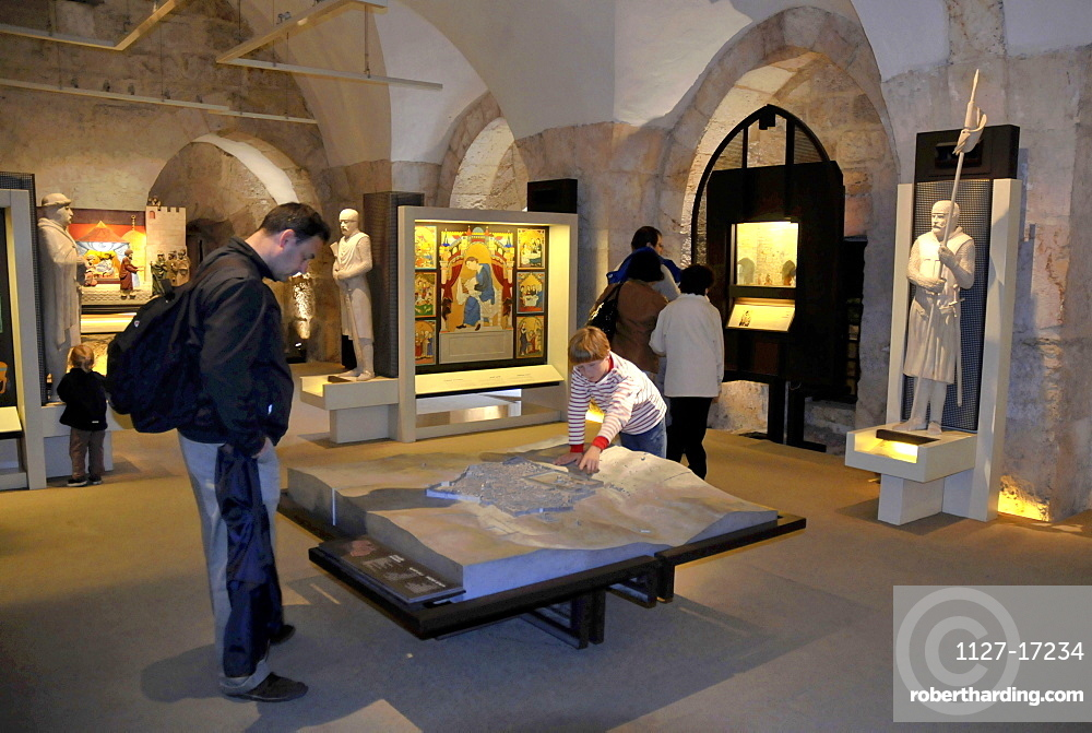Museum, exhibition The time of the crusaders, Tower of David, Jerusalem, Israel