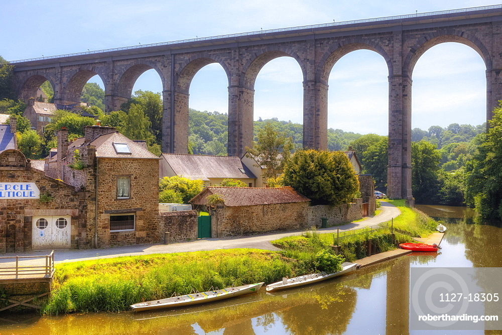 viaduct in Dinan, Brittany, France