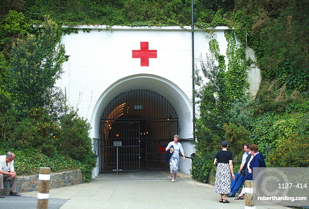 Entrance of the museum German Underground Hospital, Jersey, Channel Islands, Great Britain