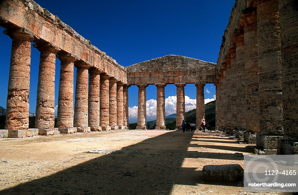 Ruin of greek temple, valley of temples, Segesta, Sicily, Italy
