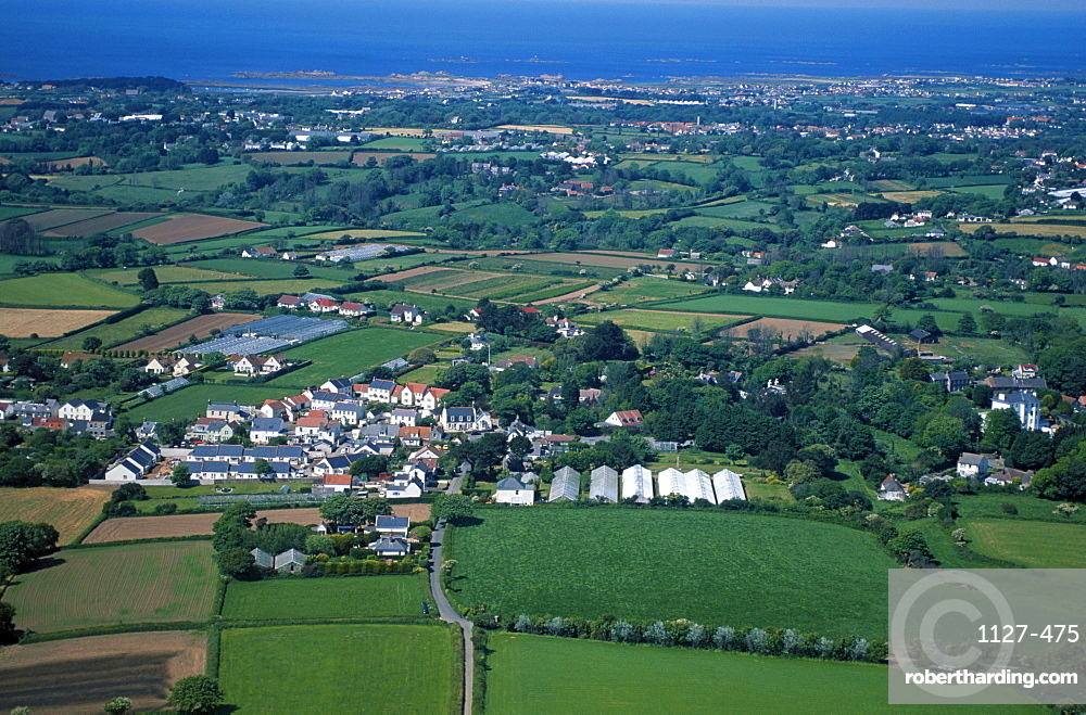 Village and agrarian country, Guernsey, Channel Islands, Great Britain