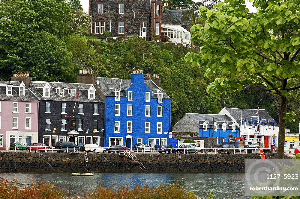 Houses at harbour, fishing village Tobermory, Isle of Mull, Scotland