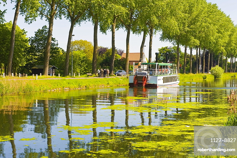 Ship on canal, Damme, West-Flanders, Belgium