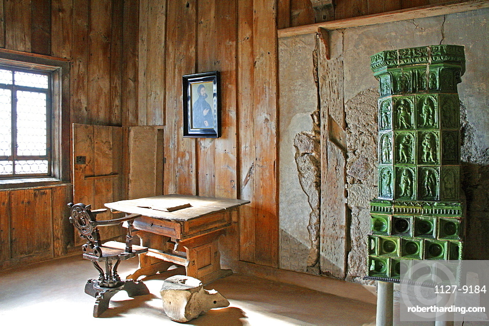 Luther room, Wartburg castle, Eisenach, Thuringia, Germany / Lutherstube