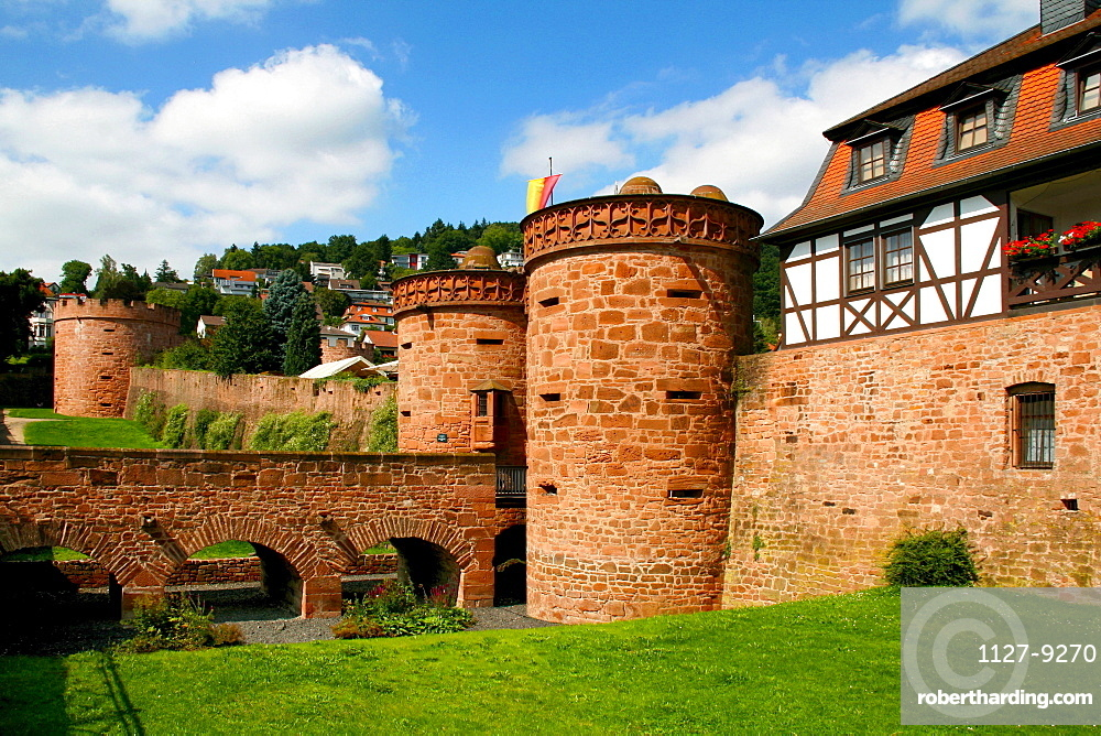 Jerusalem Gate, lower gate, Big Bulwark, Budingen, Hesse, Germany / Budingen, Jerusalemer Tor
