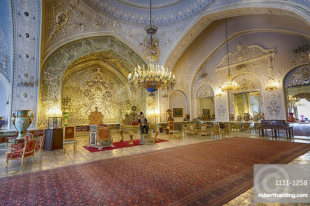 Golestan Palace, UNESCO World Heritage Site, Salam Hall, Tehran, Islamic Republic of Iran, Middle East