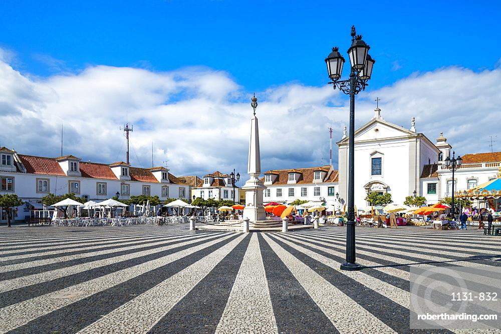 Marquis de Pombal plaza, Vila Real de Santo Antonio, Algarve, Portugal, Europe