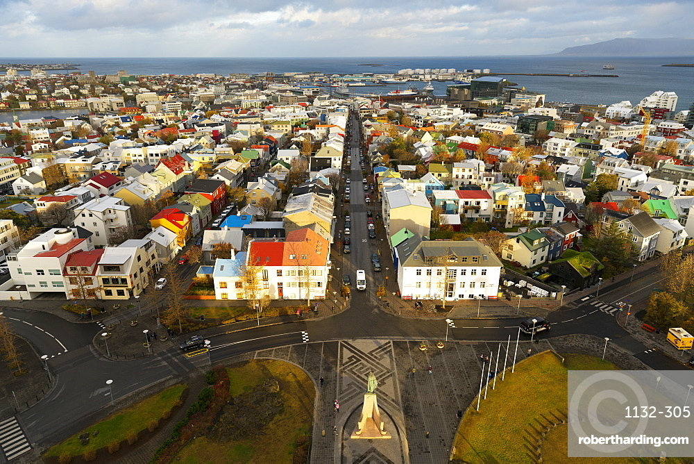 Overview of the Historic Centre of Reykjavik, Iceland, Polar Regions