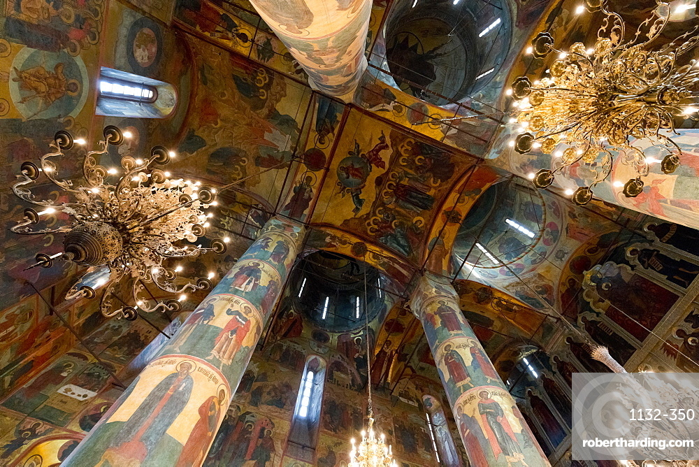 Interior of Annunciation Cathedral, Kremlin, UNESCO World Heritage Site, Moscow, Russia, Europe