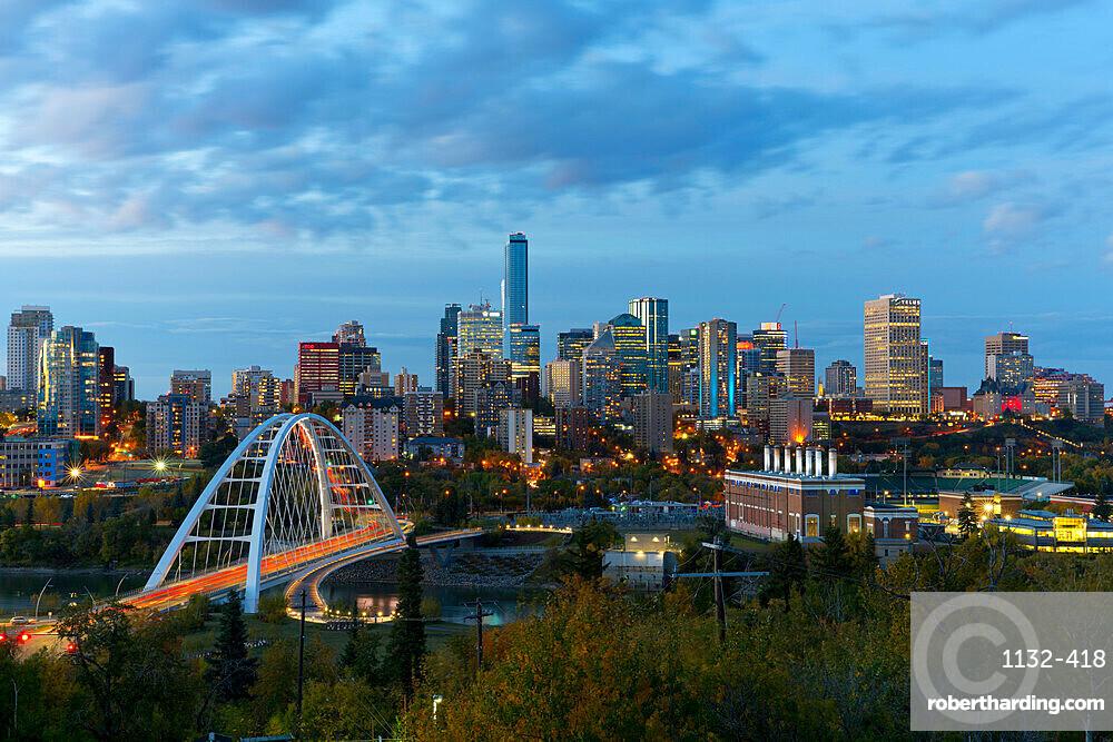 Edmonton Skyline and the North Saskatchewan River, Edmonton, Alberta, Canada