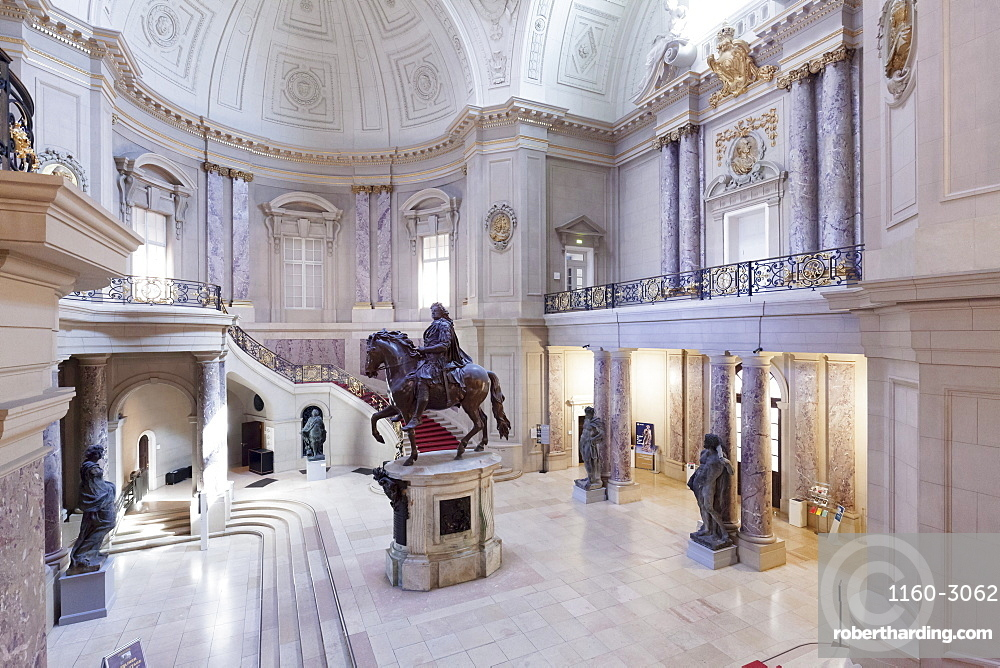 Entrance Hall with equestrian statue of Frederick William I, Bode Museum, Museum Island, UNESCO World Heritage Site, Berlin Mitte, Berlin, Germany, Europe