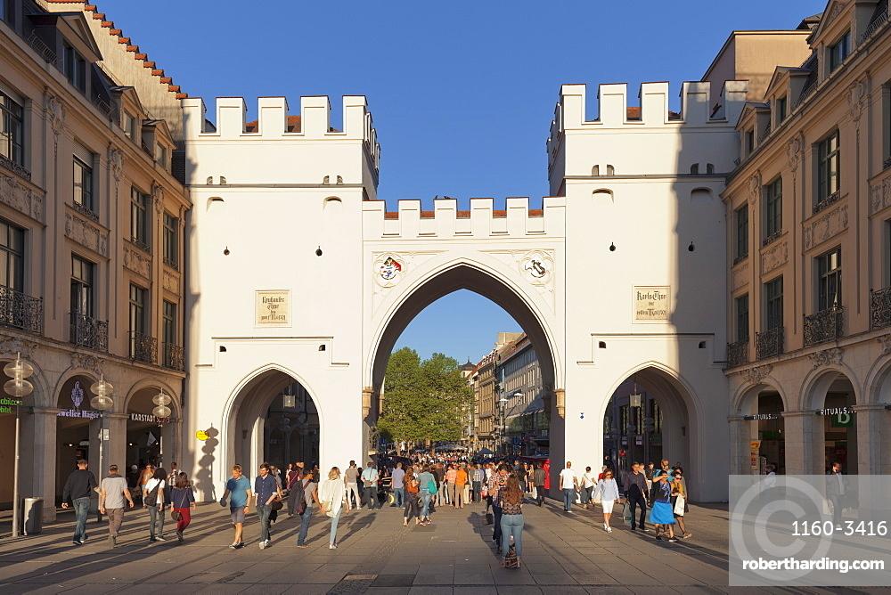 Karlstor Gate, Karlsplatz Square, Stachus, Munich, Bavaria, Germany, Europe